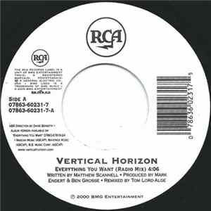 Vertical Horizon - Everything You Want / You're A God Mp3