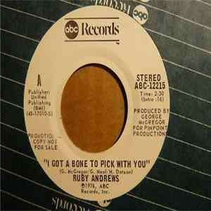 Ruby Andrews - I Got A Bone To Pick With You Mp3