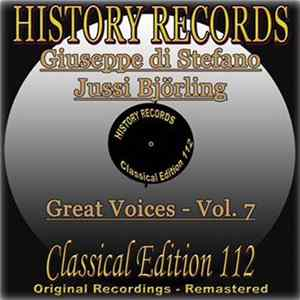 Giuseppe di Stefano, Jussi Björling - History Records - Classical Edition 112 - Great Voices Volume 7 Mp3