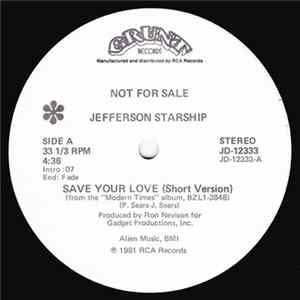 Jefferson Starship - Save Your Love Mp3