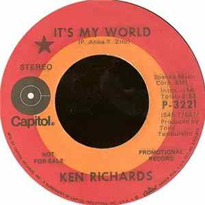 Ken Richards - It's My World / Both Of Us Could Lose Mp3